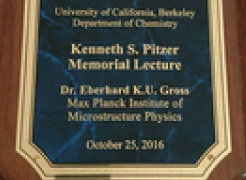 <h1>Eberhard K. U. Gross held the Kenneth S. Pritzer Memorial Lecture</h1>
